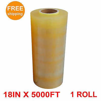 1 Roll Premium Food Meat Wrapping Film - Clear - 18 in. x 5000 ft.