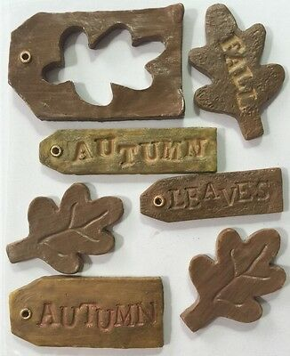 AUTUMN LEAVES Inspirables Stone Sticker (7pc)Sticko•Fall•Season •Winter•Memories