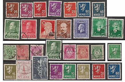 (OE-23) 1930-60 Norway mix of 62 stamps (B)