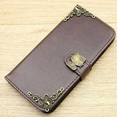 906125173 Hello Kitty Wallet PU Leather Flip Stand Handmade Case Cover For Apple  iPhone