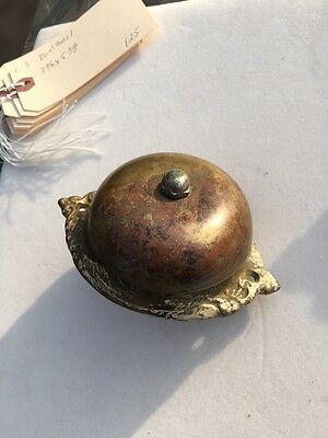 L3 Antique All Brass Doorbell Three And Three-Quarter Inch By 5 3/8 Inch