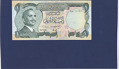 Jordan 1 Dinar Of 1975-92 Issue With Low S/n  000040 P.18 In Unc Cond.