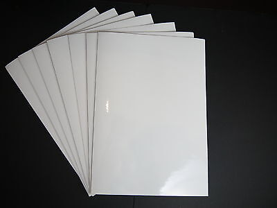 A4 Laser Glossy Finish Self Adhesive Paper White Sticky Back Waterproof Sheet