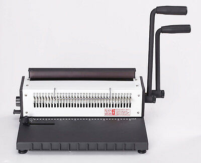 Heavy Duty Wire Binding Machine,Double O Loop,Wire-O,Movable Pins,3:1+FREE Wires