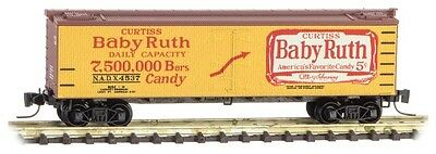 Baby Ruth 40 ft Reefer car Z scale Micro-trains 51800371 road no. 4537 U.S.A