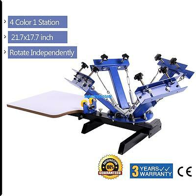 NS401-S 4 Color 1 Station Screen Press Printing Machine Printer Singal Roller