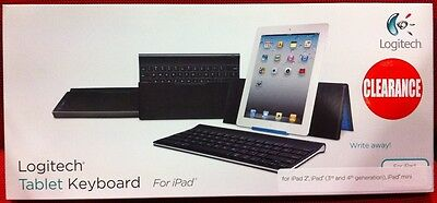LOGITECH Bluetooth Tablet Keyboard for iPad  *BRAND NEW*  8098305