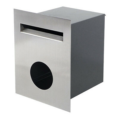 Milkcan 304 Stainless FB13 Wall Fence Letterbox Mailbox Paper Holder