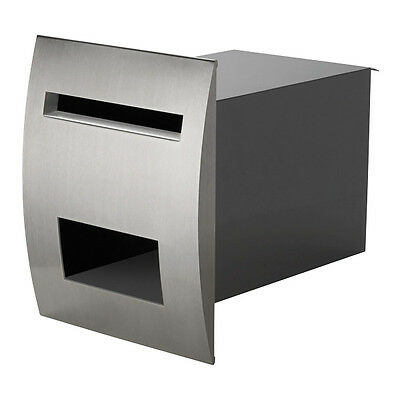 SALE A4 Letterbox Venice Fence Mount Stainless Steel Mailbox Charcoal