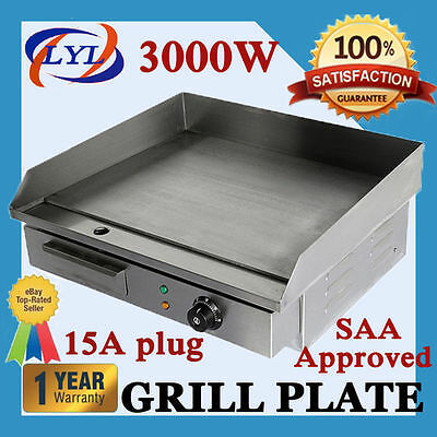 3000W Griddle Grill Hot Plate Stainless Steel Bbq Grill Large Plate