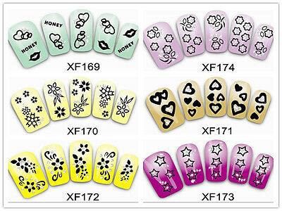 Multi-style DIY Tips Fake Diamond Nail Art Decals Water Transfer Stickers