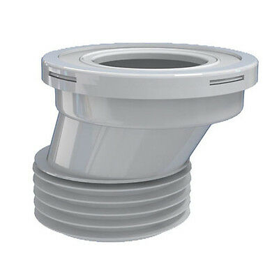 """110mm 4"""" Toilet WC Offset Waste Pan Connector Rubber Connector for Toilet Pans"""