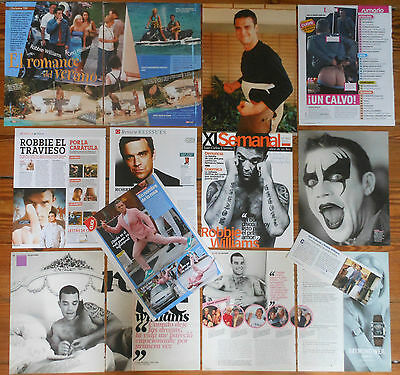 ROBBIE WILLIAMS 1990s/10s clippings photos magazine articles cuttings Take That