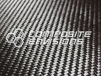 "Carbon Fiber Cloth Fabric 2x2 Twill 50"" 6k 11oz"