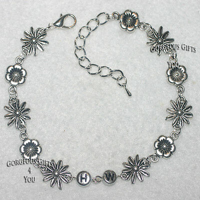 NEW HW = Hotwife Daisy And Pansies Flower Chain Ankle Bracelet Anklet Saucy Gift