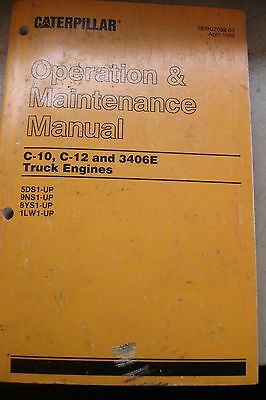 cat caterpillar c10 c12 engine operator operation maintenance caterpillar c10 c12 3406e truck engine operation manual operator maintenance
