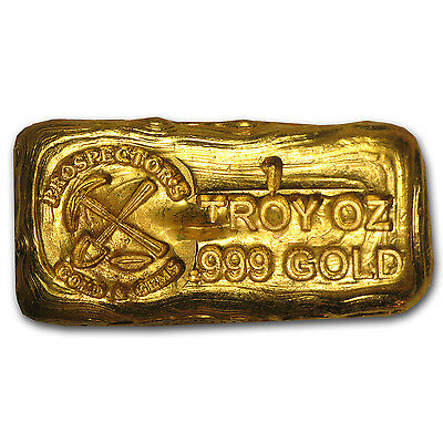 1 oz Gold Prospector's Gold & Gems Bar .999 Fine - SKU #75670