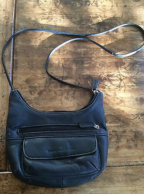 de20db09f1 womens purses and handbags Stone Mountain Cross Body Messenger Black Leather  Bag