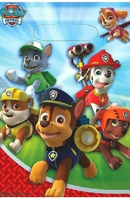 Paw Patrol Birthday Party Supplies Loot Lolly Treat Bags- Pack 8