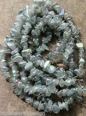 20 Electroplated Natural Crystal chunky Chip Nugget Beads 10-23mm