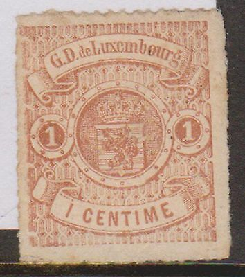 (OI-2) 1859 Luxemburg 1c brown (A)