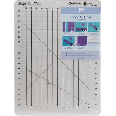 June Tailor SHAPE CUT PLUS RULER for Quilting, Fabric Cutter Template Sewing New
