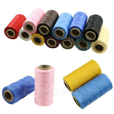 260M 1MM Leather Sewing Waxed Wax Thread Hand Stitching Cord Craft DIY New