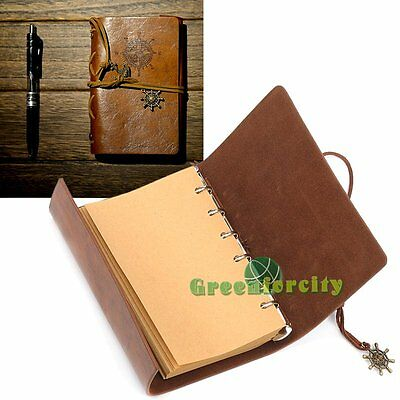 Retro Classic Vintage Pirate Leather Blank Diary Journal Sketchbook Notebook【UK】