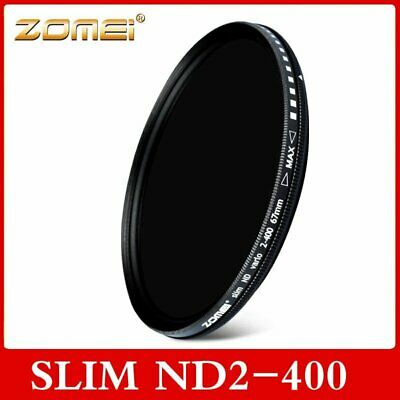 49-82mm Adjustable ZOMEI ND2-400 Variable Neutral Density Lens Filter Protector