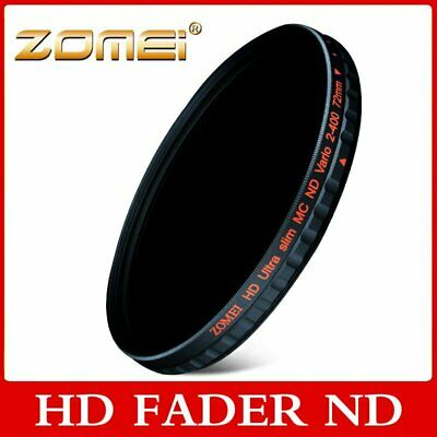 52-82mm Adjustable ZOMEI  HD Multi-Coated Variable Fader ND2 to ND400 ND Filter