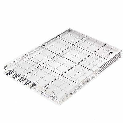 Hobbycraft Clear Acrylic Stamping Block 10.1x7 cm Mounting Rubber Stamp