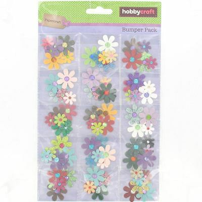 Hobbycraft Paper Flower Bundle Scrapbook Craft Embellishments Decoration