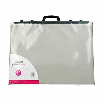 Hobbycraft Valuecrafts Clear A2 Carry Case Storage Boxes Drawing Art Supplies
