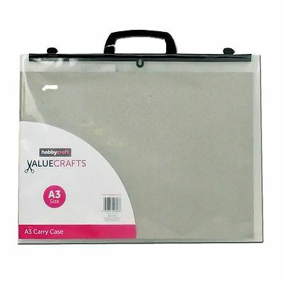 Hobbycraft Valuecrafts Clear A3 Carry Case Storage Boxes Drawing Art Supplies