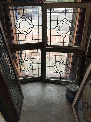 Sg 367 4 Matching Antique Leaded Glass Windows
