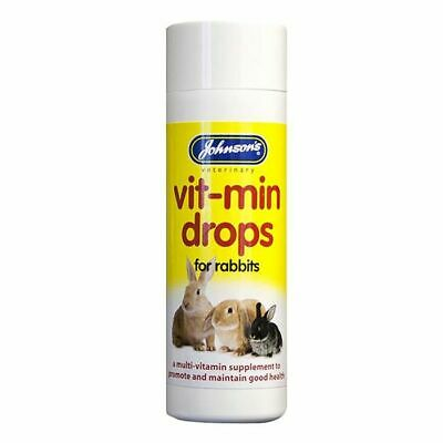 Johnsons Vit min Drops for Rabbits 100ml Posted same day if paid before 1pm