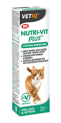 Vetiq Nutri-Vit Plus Paste Vitamin & Mineral Supplement Cats Kittens 70g
