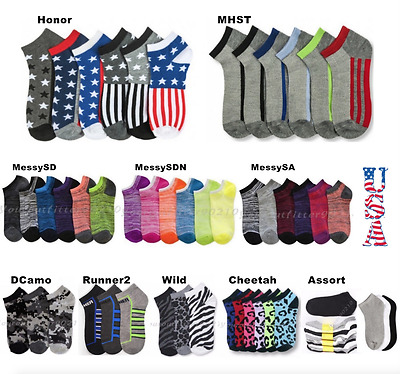 12 Pairs Lot Kids Crew Ankle Socks Boy Girl Toddler Baby Messy  0-12 2-3 4-6 6-8