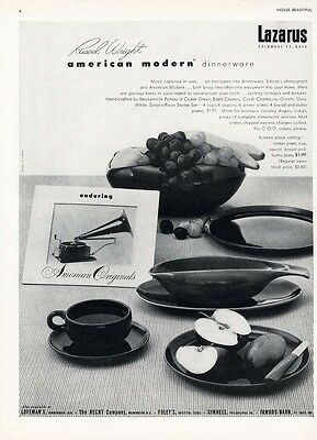 1952 RUSSEL WRIGHT - Steubenville Pottery AMERICAN MODERN Dinnerware PAPER AD
