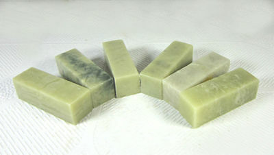 4 Pc Dandong  Green Seal Blank Stone1.5x5cm For Beginners With Practice Carving