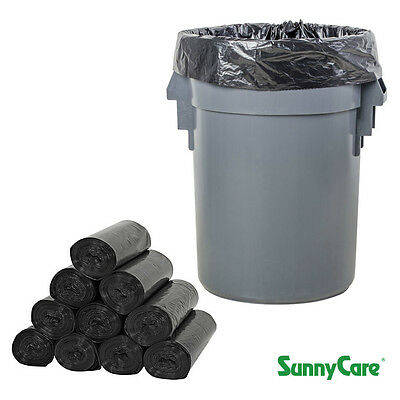"56 Gallon 1.5Mil 43"" x 47"" Low Density Can Liner / Trash Bag  - 100 /Case"