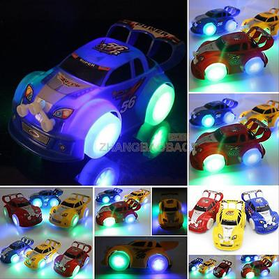 Funny Flashing Music Racing Car Electric Automatic Toy Boy Kid Birthday Gift New
