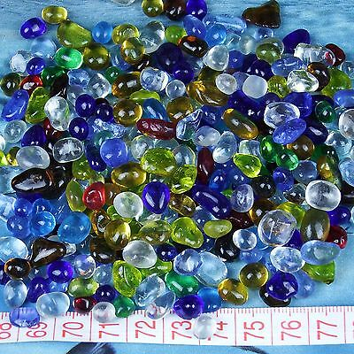 Tumbled Stone Polished Multi-Color Colored Glaze Glass 100g (small pieces)