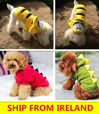 Dog Coat suit Pet Clothes Winter Apparel Clothing Puppy Hoodie dinosaur tiger