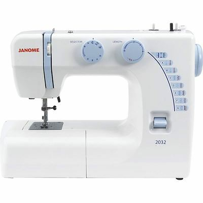 Janome 2032 Sewing Machine Lightweight Free Arm Foot Pedal Button Hole New