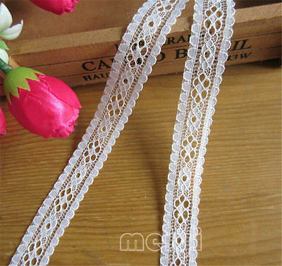1/5/10yd Vintage Embroidered Lace Edge Trim Ribbon Crochet Applique Sewing Craft