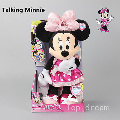Mickey Mouse Clubhouse Lighting & Talking Minnie Plush Soft Toy Doll Boxed 14''