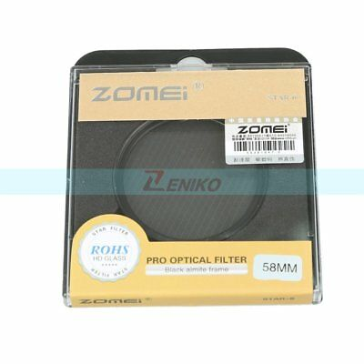 Hot 52 55 62 67 72 77 82mm Pro ZOMEI Star 6 6+ Point Star Effect Lens Filter