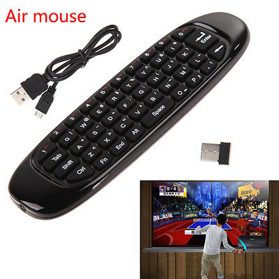 New 2.4GHz Mini Wireless Fly Air Mouse Gyro Sensing Keyboard For Android TV Box