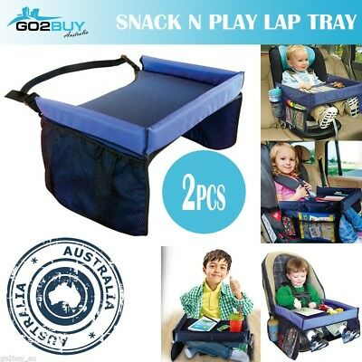 2 PCS Baby Car Safety Seat Snack & Play Lap Tray Portable Table Kid Travel